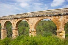 Aqueduc romain à Tarragona, Espagne Photos stock