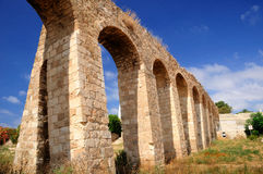 Aqueduc romain antique Image libre de droits