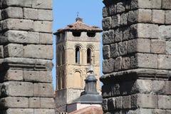 Aqueduc romain de Segovia Photos libres de droits