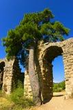 Aqueduc romain en Turquie Image stock