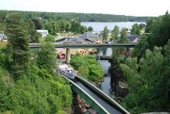 Aqueducs dans Haverud Suède Photo stock