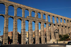 Aqueduct 1. General view of the Segovia's Roman aqueduct from the northeast Stock Photo
