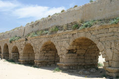 Aqueduct. Caesarea, Israel royalty free stock photo