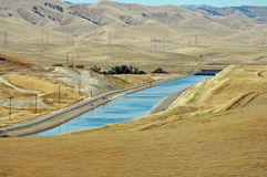 Aqueduct. Central Valley, California royalty free stock images