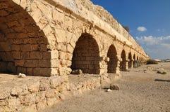 Aqueduct. Roman aqueduct at Caesarea coast.Israel Royalty Free Stock Photo
