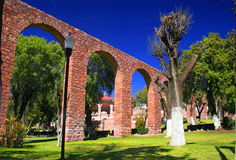 Aqueduct. Of the city if zacatecas, mexico Stock Photo