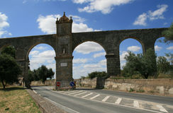 Aqueduct. This aqueduct was finished about 1530 to bring clean water to Evora city in Portugal stock images