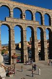 Aqueduct 8. View of the Segovia Roman aqueduct from the south royalty free stock image