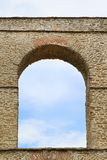 Aqueduct arch. Arch at old Byzantine aqueduct in Kavala Greece Stock Photos