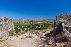 Aqueduct at Aspendos in Antalya Turkey Royalty Free Stock Photography