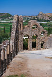 Aqueduct at Aspendos in Antalya Turkey Royalty Free Stock Photo