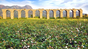 Aqueduct at Aspendos in Antalya, Turkey Stock Image