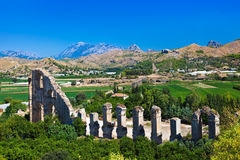 Aqueduct at Aspendos in Antalya Turkey Stock Images