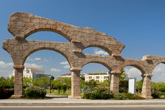 Aqueduct in Belek. Old Aqueduct in Belek, antalia, Turkey Stock Photos