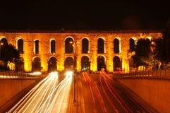 Aqueduct Bozdogan. Ancient Valent Roman aqueduct in Istanbul, Turkey Royalty Free Stock Photos