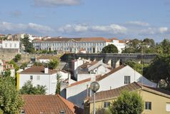 Aqueduct and buildings of Coimbra Royalty Free Stock Photos