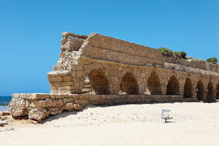 Aqueduct of Caesarea Stock Photos