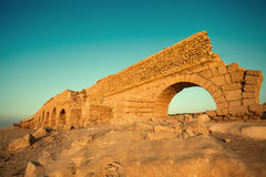 Aqueduct in Caesarea, Israel Stock Photography
