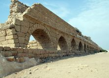 Aqueduct in Caesarea Stock Images