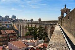 Aqueduct cityscape Royalty Free Stock Photos