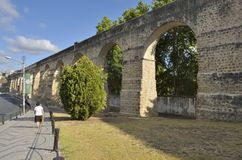Aqueduct of Coimbra Stock Image