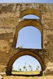 Aqueduct in Elvas, Portugal Royalty Free Stock Images
