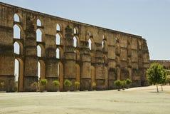 Aqueduct in Elvas, Portugal Stock Images