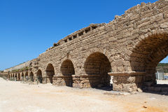 Aqueduct in the Holy Land Stock Photo