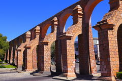 Aqueduct I. Aqueduct of the city of zacatecas, mexico Royalty Free Stock Photography