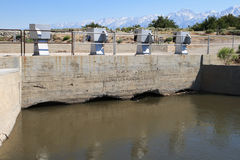 Aqueduct intake. Owens River Los Angeles aqueduct intake structure Stock Images