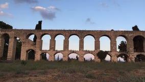Aqueduct in Israel stock footage