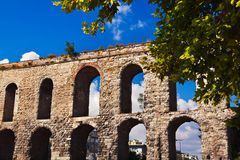 Aqueduct at Istanbul Turkey Royalty Free Stock Photo