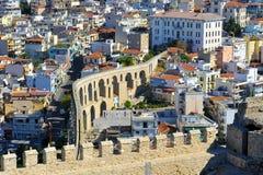 Aqueduct, Kavala, Greece Royalty Free Stock Images