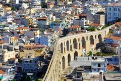 Aqueduct, Kavala, Greece Stock Photos