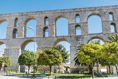 The aqueduct in Kavala Greece. The roman  aqueduct in Kavala Greece Royalty Free Stock Photography