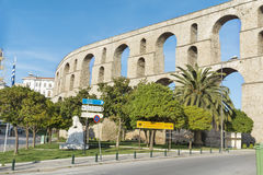 The aqueduct in Kavala Greece royalty free stock images