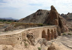 Aqueduct in Kharanaq village near Yazd. Iran Royalty Free Stock Image