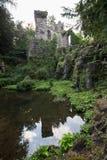 Aqueduct landschaftspark wilhelmshoehe kassel gemany Royalty Free Stock Photos