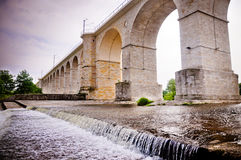 Aqueduct-like railway bridge in Poland Stock Image