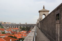 Aqueduct at Lisboa Stock Images