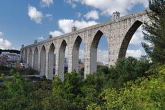 Aqueduct lisbon, portugal Stock Image
