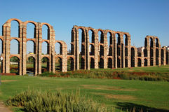 Aqueduct of the Marvels 2. General sight of the roman aqueduct of Merida Royalty Free Stock Photography