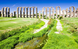 Aqueduct in Merida Stock Photography