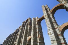 Aqueduct. Miracles aqueduct in Merida, Extremadura, Spain Stock Photography