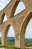 Aqueduct in Morella stock photo