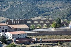 Aqueduct in Morella Stock Images