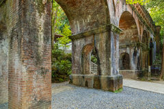 Aqueduct at Nanzen-ji Temple in Kyoto Royalty Free Stock Images