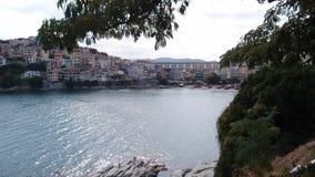 Aqueduct near Kavala royalty free stock photos