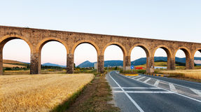 Aqueduct near Pamplona. Navarre Royalty Free Stock Photo