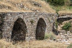 Aqueduct of Nysa Ancient City in Aydin, Turkey Royalty Free Stock Photo